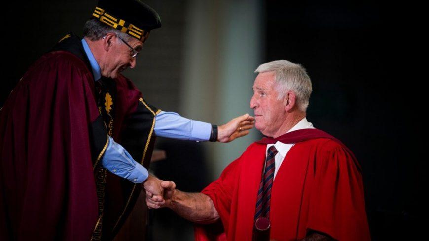 Jan 'Boland' Coetzee receives honorary doctorate from Stellenbosch University