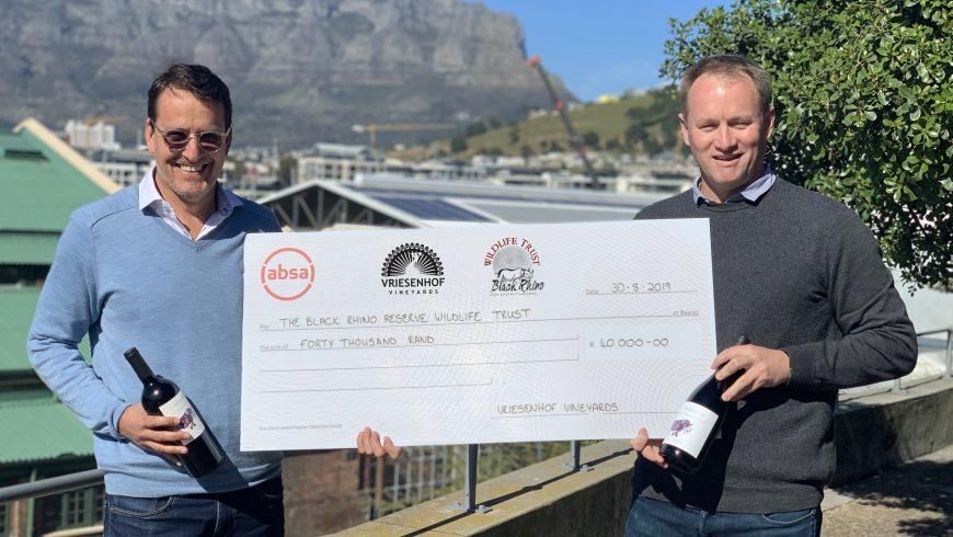 Vriesenhof Vineyards raises a glass in the fight against rhino poaching