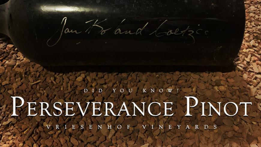 Perseverance Pinot | Vriesenhof Vineyards